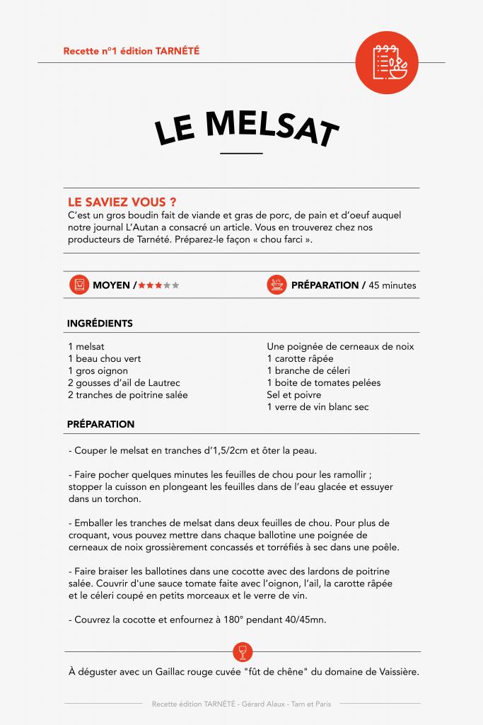 Le Melsat - Recette n°1
